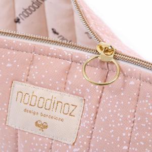 Nobodinoz - N105383 - Trousse de toilette Holiday 14x23 cm white bubble - misty pink (387566)