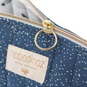Nobodinoz - N105444 - Trousse de toilette Holiday 14x23 cm gold bubble - night blue (387568)