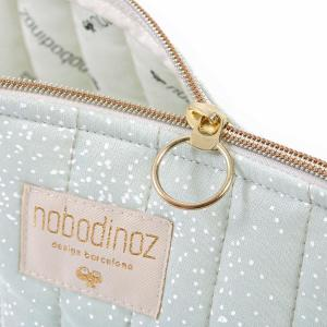 Nobodinoz - N105406 - Trousse de toilette Holiday 14x23 cm white bubble - aqua (387570)