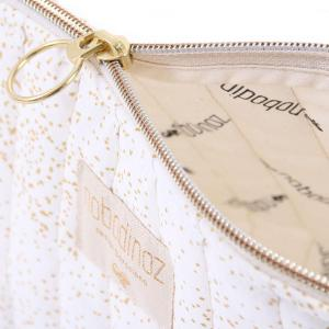 Nobodinoz - N105369 - Trousse de toilette Holiday 14x23 cm gold bubble - white (387572)