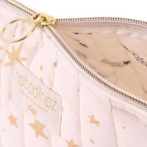 Nobodinoz - N105420 - Trousse de toilette Holiday 14x23 cm gold stella - dream pink (387586)
