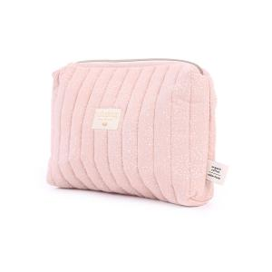 Nobodinoz - N105680 - Trousse de toilette Travel 18x25x17 cm white bubble - misty pink (387626)