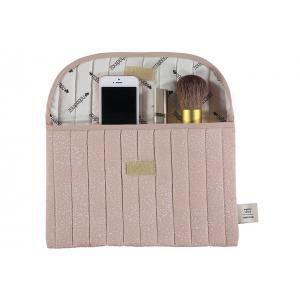Nobodinoz - N105833 - Pochette Bagatelle 19x27 cm white bubble - misty pink (387656)