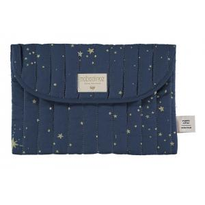 Nobodinoz - N105918 - Pochette Bagatelle 19x27 cm gold stella - night blue (387674)