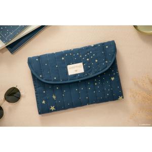 Nobodinoz - N105918 - Pochette Bagatelle 19x27 cm gold stella - night blue (387674)
