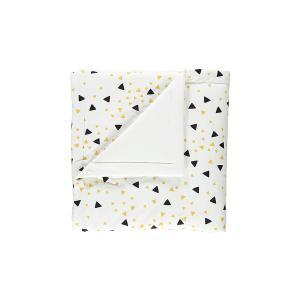Nobodinoz - N054070 - Couverture Copenhague 100x145  cm confettis noirs et miel (387832)