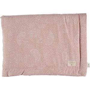 Nobodinoz - N104263 - Couverture Laponia 70x70 cm white bubble - misty pink (387834)