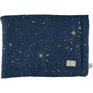Nobodinoz - N104348 - Couverture Laponia 70x70 cm gold stella - night blue (387852)