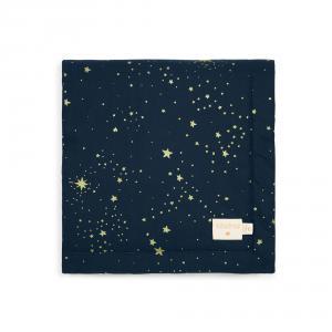 Nobodinoz - N104348 - Couverture Laponia 70x70 cm gold stella - night blue (387852)