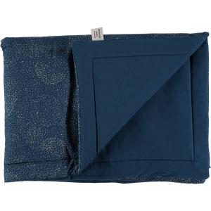 Nobodinoz - N101873 - Couverture Laponia 100x140 cm gold bubble - night blue (387866)