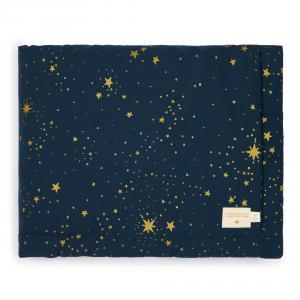 Nobodinoz - N101897 - Couverture Laponia 100x140 cm gold stella - night blue (387882)