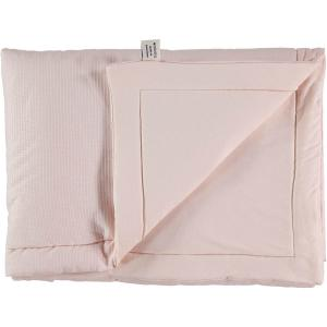 Nobodinoz - N104416 - Couverture Laponia 70x70 cm coton uni dream pink (387898)