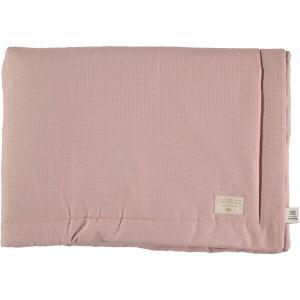 Nobodinoz - N104430 - Couverture Laponia 70x70 cm coton uni misty pink (387900)