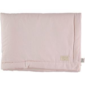 Nobodinoz - N101965 - Couverture Laponia 100x140 cm coton uni dream pink (387914)