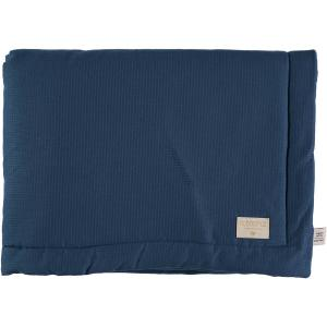 Nobodinoz - N102016 - Couverture Laponia 100x140 cm coton uni night blue (387924)