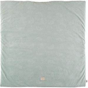 Nobodinoz - N103129 - Tapis de jeu Colorado 100x100 cm white bubble - aqua (388294)