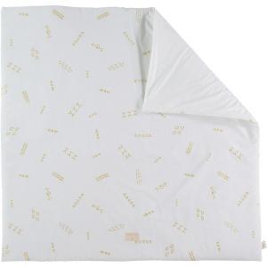 Nobodinoz - N103099 - Tapis de jeu Colorado 100x100 cm gold secrets - white (388304)