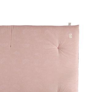 Nobodinoz - N104539 - Futon Eden WHITE BUBBLE/ MISTY PINK (388518)