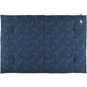 Nobodinoz - N104591 - Futon Eden 148x100 gold bubble - night blue (388520)