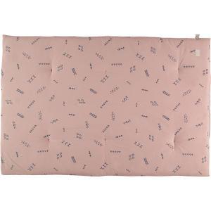 Nobodinoz - N104607 - Futon Eden 148x100 blue secrets - misty pink (388528)