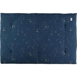 Nobodinoz - N104614 - Futon Eden 148x100 gold stella - night blue (388536)