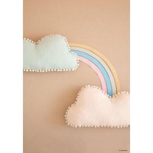 Nobodinoz - N107448 - Coussin nuage Marshmallow 30x58 cm dream pink (388614)