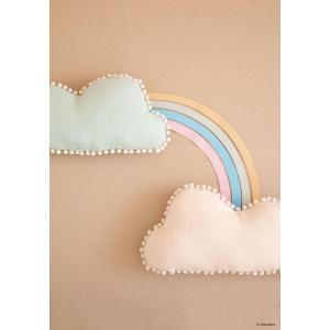 Nobodinoz - N107431 - Coussin nuage Marshmallow 30x58 cm aqua (388616)