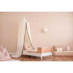 Nobodinoz - N107400 - Coussin lune Pierrot 36x32 cm misty pink (388620)