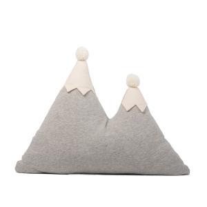 Nobodinoz - N107479 - Coussin montagne Snowy 42x50 cm GRIS VIGORÉ (388624)