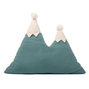 Nobodinoz - N107455 - Coussin montagne Snowy 42x50 cm magic green (388626)