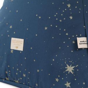 Nobodinoz - N103563 - Pouf Keops 65 x 50 x 50 cm gold stella - night blue (388752)