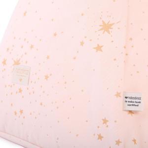 Nobodinoz - N103525 - Pouf Keops 65 x 50 x 50 cm gold stella - dream pink (388754)