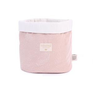 Nobodinoz - N101354 - Panier souple Panda - medium WHITE BUBBLE/ MISTY PINK (388984)