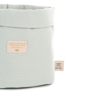 Nobodinoz - N101286 - Panier Panda S 19x15 cm coton uni aqua (389052)