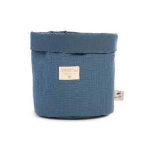 Nobodinoz - N101323 - Panier Panda S 19x15 cm coton uni night blue (389058)