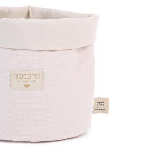 Nobodinoz - N101507 - Panier Panda M 24x20 cm coton uni dream pink (389064)