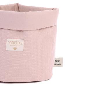 Nobodinoz - N101521 - Panier Panda M 24x20 cm coton uni misty pink (389066)