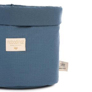 Nobodinoz - N101552 - Panier Panda M 24x20 cm coton uni night blue (389074)