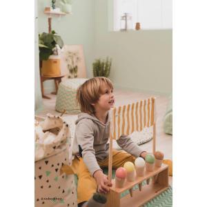 Nobodinoz - N055022 - Sac de rangement, jouets Baobad 60x42x42 cm confettis noirs et miel (389150)