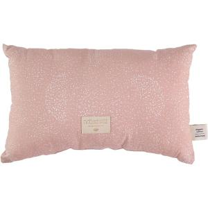 Nobodinoz - N099873 - Coussin Laurel en coton organique 22x35 cm white bubble - misty pink (389302)