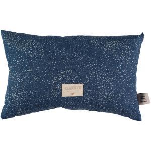 Nobodinoz - N099934 - Coussin Laurel en coton organique 22x35 cm gold bubble - night blue (389304)