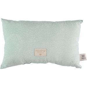 Nobodinoz - N099897 - Coussin Laurel en coton organique 22x35 cm white bubble - aqua (389306)