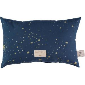 Nobodinoz - N099958 - Coussin Laurel en coton organique 22x35 cm gold stella - night blue (389320)