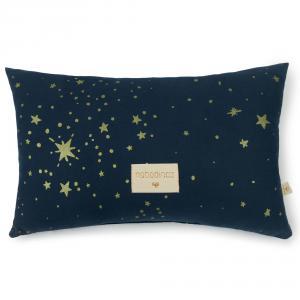 Nobodinoz - N099958 - Coussin Laurel en coton organique 22x35 cm gold stella - night blue (389320)