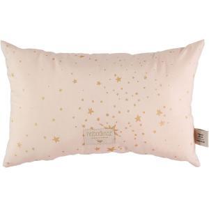 Nobodinoz - N099910 - Coussin Laurel en coton organique 22x35 cm gold stella - dream pink (389322)
