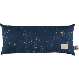 Nobodinoz - N100180 - Coussin Hardy en coton organique 22x52 cm gold stella - night blue (389350)
