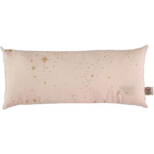 Nobodinoz - N100142 - Coussin Hardy en coton organique 22x52 cm gold stella - dream pink (389352)
