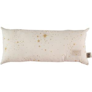 Nobodinoz - N100210 - Coussin Hardy en coton organique 22x52 cm gold stella - natural (389354)