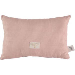 Nobodinoz - N100043 - Coussin Laurel en coton organique 22x35 cm misty pink (389368)