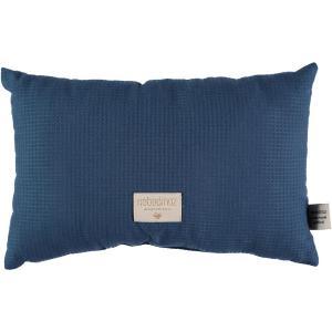 Nobodinoz - N100074 - Coussin Laurel en coton organique 22x35 cm night blue (389376)